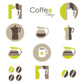 Coffee icons. elements for your logo design — Stock Vector
