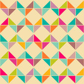 Abstract retro geometric seamless pattern — Stock Vector