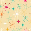 Retro starry pattern — Stock Vector