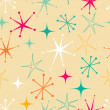 Stock Vector: Retro starry pattern