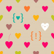 Stock Vector: Valentine Hearts seamless pattern