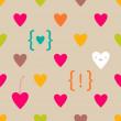 Valentine Hearts seamless pattern — Stock Vector