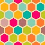 Retro geometric hexagon seamless pattern — Stock Vector #21902255