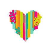 Colorful heart cutout — Stock Vector