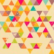 Triangles grunge seamless pattern — Stock Vector