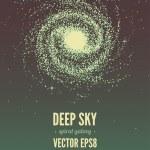 Spiral galaxy — Stock Vector