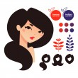 Natural hair dyes hennand indigo icons — 图库矢量图片 #40405559