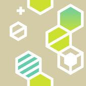 Abstract geometrical hexagon seamless pattern — Stock Vector