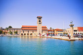 Mandraki harbor, Rhodes, Greece — Stock Photo