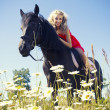 Beauty on horse — Foto Stock
