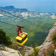 Ropeway in mountain - Stock Photo