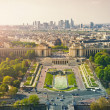 Beautiful Paris from Effel tower - Stock Photo