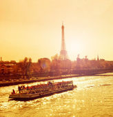 Sunset in Paris — Stock fotografie