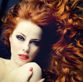 Redhead sensuality — Stock Photo