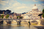 圣徒彼得大教堂,罗马意大利 — 图库照片