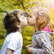 First kiss — Stock Photo