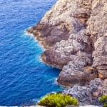 bella costa rocciosa in mallorca — Foto Stock