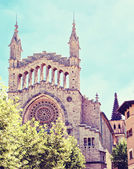 Cathedral Sant Bartomeu in Soller — Stock Photo