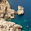 Foto Stock: Beautiful rocky coast in Mallorca