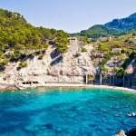 Blue lagoon in Mallorca island — Stock Photo
