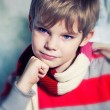 Stock Photo: Pensive kid
