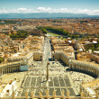 St. Peter's Square famous view, Vatican — Stock Photo