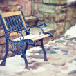 Old forged bench — Stock Photo #40346383