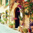 Street in Valldemossvillage in Mallorca — Stock Photo #40346407