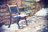 Old forged bench — Stok fotoğraf
