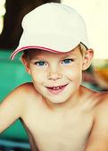 Portrait of funny boy — Stock Photo
