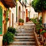 Street in Valldemossa village in Mallorca — Stock Photo #41723649