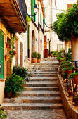 Street in Valldemossa village in Mallorca — Stock Photo