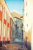 Medieval street in Tallinn — Stock Photo