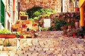 Street in Valldemossa village — Stock Photo