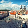 View to Old Town Square and Tyn church in Prague — Stock Photo #46597615