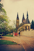 Cathedral of Saint Peter and Paul in Vysehrad — Stock Photo