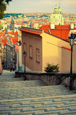Medieval staircase in Prague — Stock Photo