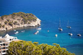 Yachts in spain bay — Stock Photo