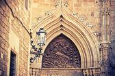 Facade of church in Barcelona — Stock Photo