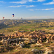 Hot air balloon flying over Cappadocia, Turkey — Stock Photo