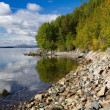 Stock Photo: Coast of White Sea, early autumn, Russia