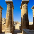 Stock Photo: Columns of the temple at Saqqara, Egypt