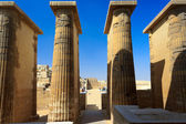 Columns of the temple at Saqqara, Egypt — Stock Photo