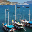 Moored yachts, Bodrum, Turkey — 图库照片