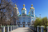 St. Nicholas Naval Cathedral, St.Petersburg, Russia — Stock Photo