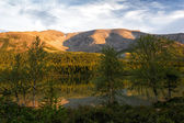 Vista del passo chorrgor settentrionale, khibiny, russia — Foto Stock