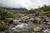 La rivière petrelius, khibiny, russie — Photo