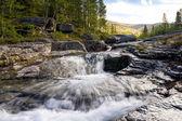The Mannepahk river, Khibiny, Russia — Stock Photo