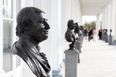 The bronze bust of Mikhail Lomonosov by sculptor Fedot Shubin — Stock Photo