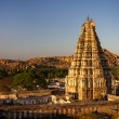 Stock Photo: VirupakshTemple at sunset, Hampi, Karnataka, India